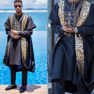 Agbada Embroidery Dashiki Outfit